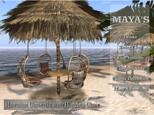 Maya's - Hawaiian Umbrella with Hanging Chair