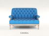 ChiMia:: Marais Settee (Classic Blue)