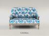 ChiMia:: Marais Settee (Blue Floral)