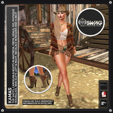 [RnR] Swag Kamas Country & Western Outfit [New Release] For Freya, Venus, Isis, Maitreya, Slink Hourglass & Physique!