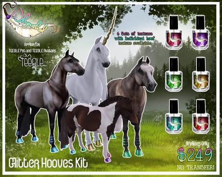 Teegle Horse/TeeglePet - Hoof Glitter Kit