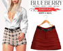 Blueberry - Power Play - Skirts - Classic - Red