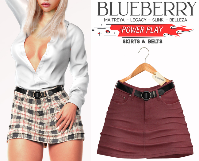 Blueberry - Power Play - Skirts - Classic - {Extra 4}