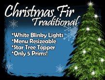 MG - Christmas Green Fir - w/Blinky White Lights