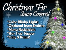 MG - Christmas Snow Fir - w/Blinky Color Lights