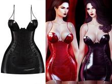BigBeautifulDoll - Azumi Mesh Latex Dress - Black - Maitreya V-Tech Belleza Freya Perky Legacy Slink Hourglass Petite