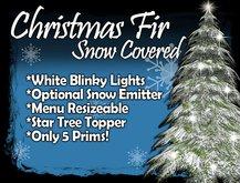 MG - Christmas Snow Fir - w/Blinky White Lights