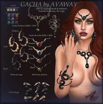 *AvaWay* Witch_Earring_Black 2
