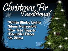 MG - Decorated Christmas Green Fir - w/Blinky White Lights