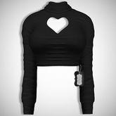 ChicModa // Ettie Heart Top // BLACK