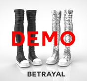 BETRAYAL. Jatavia Boots UNISEX DEMO Maitreya, Hourglass, Freya, Legacy F, Jake, Gianni