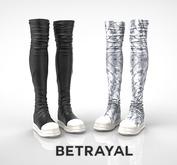 BETRAYAL. Jatavia Boots UNISEX FATPACK Maitreya, Hourglass, Freya, Legacy F, Jake, Gianni
