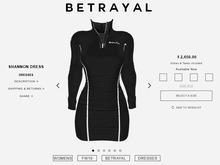 BETRAYAL. Shannon Dress BLACK