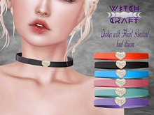 [WitchCraft] Choker with Heart Pendant