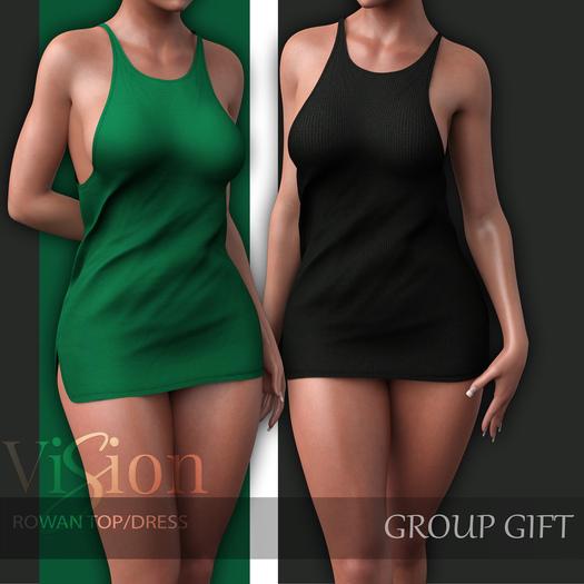 {ViSion} // Rowan Tank Top/Dress - GIFT <3  - Maitreya, Legacy, Belleza Freya - Isis, Slink Hourglass