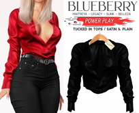 Blueberry - Power Play - Tucked In Tops - Black
