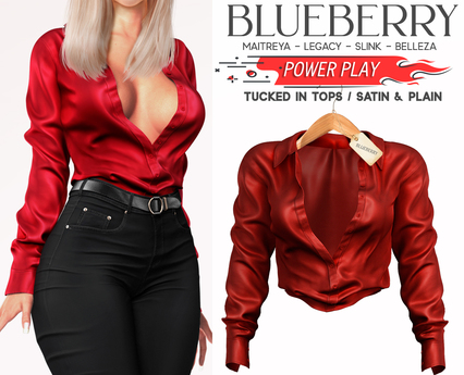 Blueberry - Power Play - Tucked In Tops - Red
