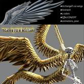 ANIMESH Archangel's Large Six Wings (gold & silver) ★ showy effect