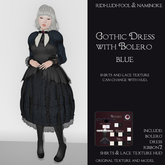 Classic Gothic Dress With Detachable Pretty Lace Bolero (blue) ★ Various color combinations