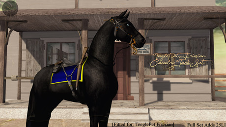 Cheval D'or / TeeglePet Friesian / Cavalry Tack Set