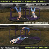 Clutter - 0483 - Dead on Merry Go Round - Static Poses