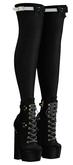 Limited Addiction - Ashley Socks/Boots - Black