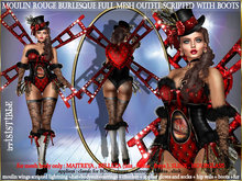 irrISIStible : MOULIN ROUGE BURLESQUE MESH OUTFIT SCRIPTED