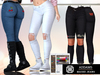 Addams - Maisei - Womens Jeans with Patches #29