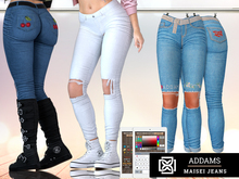 Addams - Maisei - Womens Jeans with Patches #36