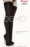 DEMO N-core GLITTER Stockings (Black)