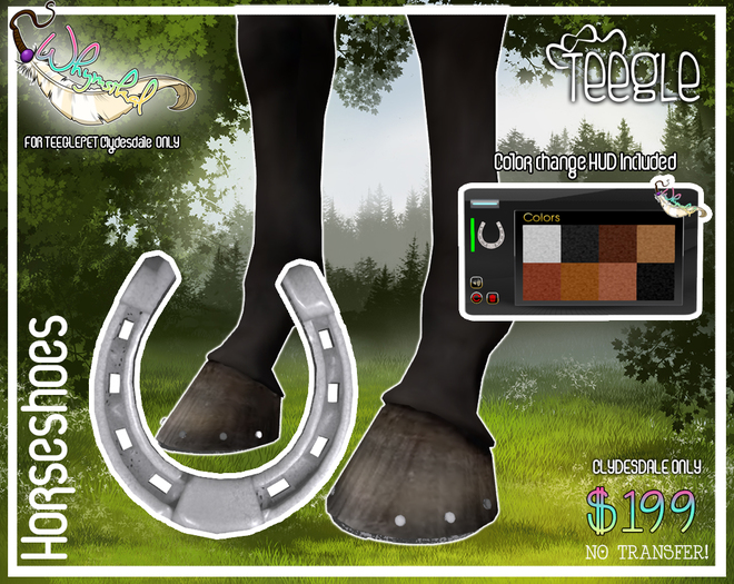 ::Whymsikal:: - Horseshoe - Teeglepet - Clydesdale