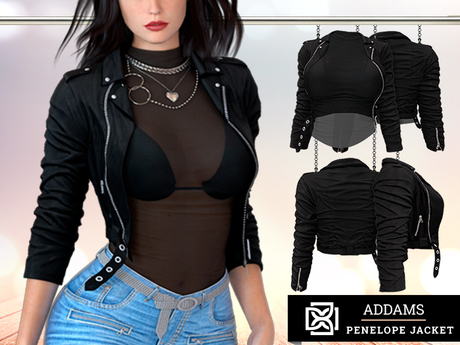 Addams - Penelope - Leather Jacket with Top #30