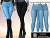 Addams - Penelope - Jeans with Diamond Belt #36