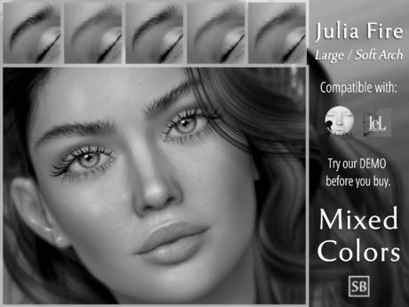 Eyebrows, LeLutka Evolution/Origins: JuliaFire.Large.SoftArch DEMO