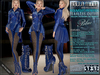 Bella Moda: Indumento Intrepido Blue Fearless Outfit for Maitreya/Physique/Hourglass/Isis/Venus/Freya+Classic - FULL