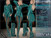 Bella Moda: Indumento Intrepido Teal Fearless Outfit for Maitreya/Physique/Hourglass/Isis/Venus/Freya+Classic - FULL