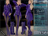 Bella Moda: Indumento Intrepido Violet Fearless Outfit for Maitreya/Physique/Hourglass/Isis/Venus/Freya+Classic - FULL