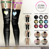HEC - FAY LOVE Strapped Thigh High Gaiters BLACK FP (SGAT-00)
