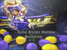 {RC}Kobe Bryant Mamba Backdrop