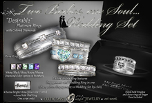 """•:*´❤❤`*:• Two Bodies, One Soul... """"Desirable"""" Wedding Rings with Colored Diamonds"""