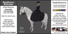 *E* RealHorse Animesh Rideable Horse - Cleveland Bay Sidesaddle  [Add & Click]