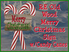 RE Old Wood Merry Christmas Sign - Free! Sculpted Xmas Decoration/Decor