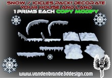 ~ Christmas SNow / Icicles Pack, Decorate Your land!
