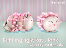 Blinking lights Kat - pink