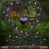 ❃Fantasy Forest Collection: ❤ Heart-shaped Branch with Black Roses