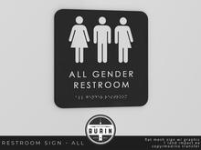Burin: All Gender Restroom Sign