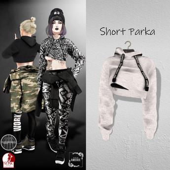 AMERIE - Short Parka(White)