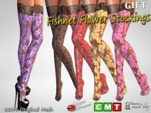 -VD- GIFT Fishnet Flower Stockings BAG (wear to unpack)