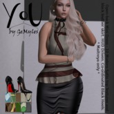 YoU by GeMyles Mei Satin Abstract & LB Heels (Maitreya Only)