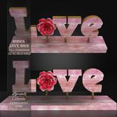 !Lyrical B!zarre Templates! - Roses Love Sign MESH FP